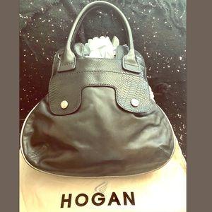 Hogan Women's Black Leather Hobo Bag - Medium